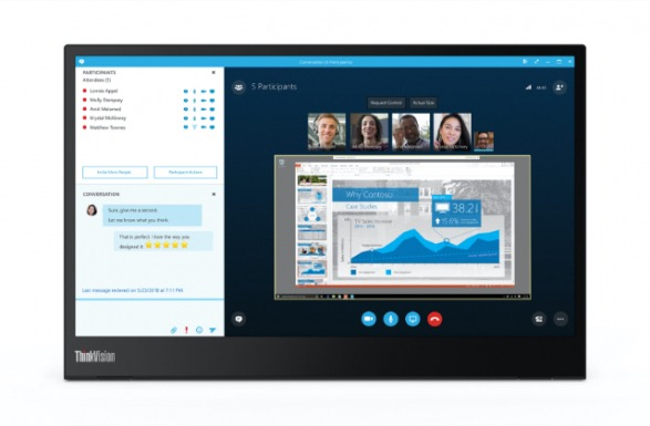 thinkvision m14 mobile display for remote work